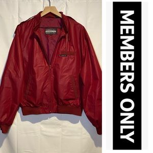 Members Only Men's Size 44 XL Vintage Jacket Red